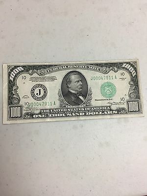 Series 1934 $1000 Federal Reserve Note