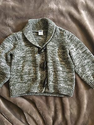 Old Navy Baby Boy Green Cardigan 6-12 Months