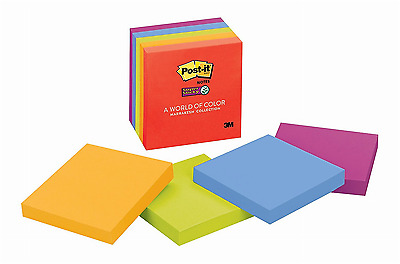"""Post-it Super Sticky Notes 3"""" x 3"""" Marrakesh Collection 5 Pads/Pack Self Stick"""