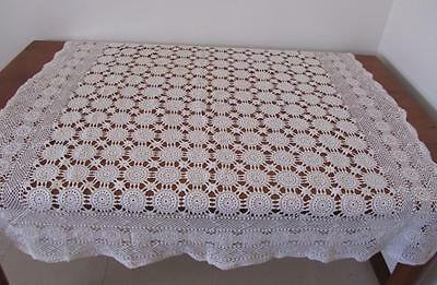Lovely Vintage CROCHET TABLECLOTH