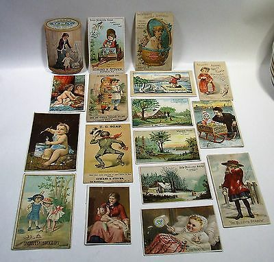 17 Vintage Advertising Cards - Soap Sewing, Starch