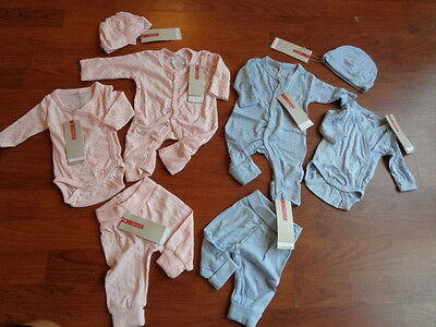 Premature Newborn Baby Boys Or Girls 'name It' Organic Romper Suit Hat Etc Set