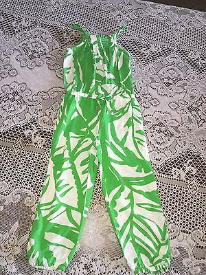 Girl's Lilly Pulitzer for Target Boom Boom Green Sleeveless Romper Jumper Sz 3T
