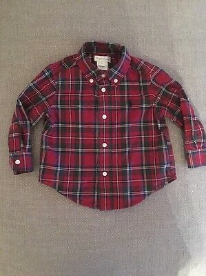 Raulph Lauren romany Baby Boys Shirt Traditional Age 12 Months