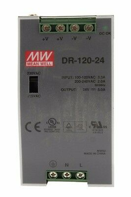 Mean Well Power Supply DR-120-24