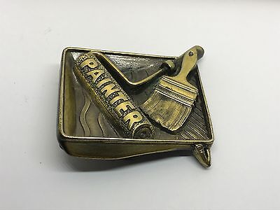The Great American Buckle Company 852 1982 Painter Belt Buckle Heavy Solid Brush