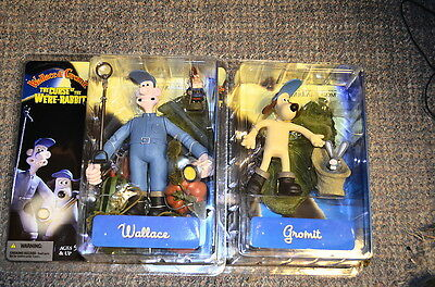 McFarlane Toys Wallace and Gromit 2 Movie Action Figure Set of 2 OOP RARE SEALED