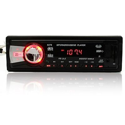 Bluetooth In Dash Car Stereo Aux Input Radio Receiver FM/SD/USB/MP3 Player 50x4W