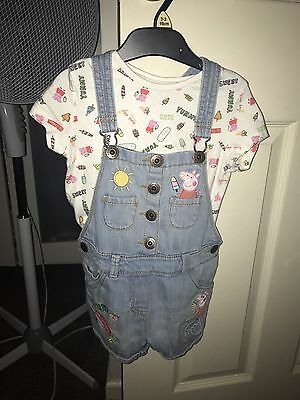 Next peppa pig dungarees 3/4 Years