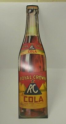 Vintage Repro. of 1940s RC Royal Crown Cola Cardboard Store Display Sign 24x6