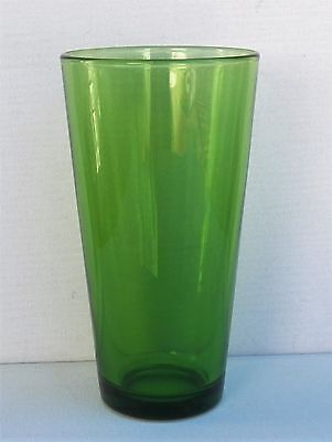 "Excellent Vintage Libbey Glass 16 Oz. 6¾"" Tall In Clear Forest Green Colour"
