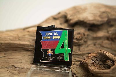 SALT LAKE CITY 2002 Olympic Collectible  Pin 4th Anniversary June 16 1995-1999