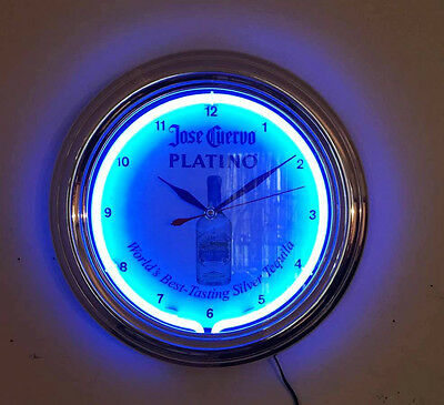 Electric Jose Cuervo Platino Tequila Bar Clock. New in box.