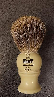 Kent  BK2 used shaving brush pure badger