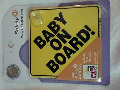 BABY ON BOARD SIGN - New Safety first baby on board car sign