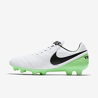 Nike Tiempo Mystic V FG Mens White Green Outdoor Soccer Cleats Shoes Size  7.5 f52b6c1a2e67