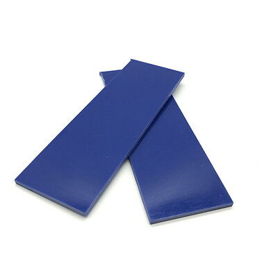 "G10 Slabs- Knife Handle Scales or Liners 1/8"" x 1.5"" x 4.7"" COBALT BLUE QW"