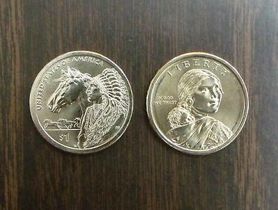 2012 - P&D Mint   Sacagawea Native American Dollars <>  MS GEM-BU Condition