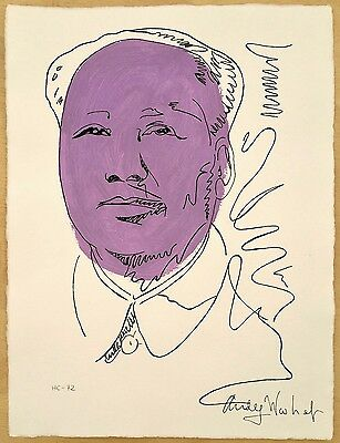 Handmade drawing with ink and acrylic,Mao,Andy  Warhol,Handmade paper,numbered