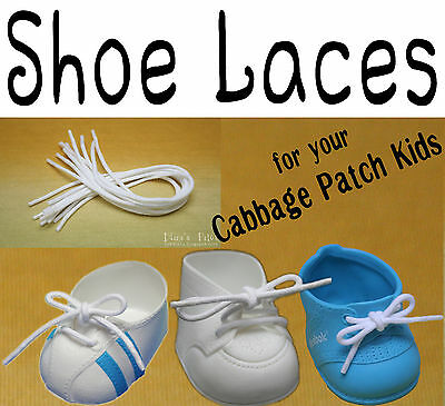 3f244c59945e84 DOLL SHOE LACES Strings for Cabbage Patch Kids Weebok Shoes Blowout Sale! -   1.49