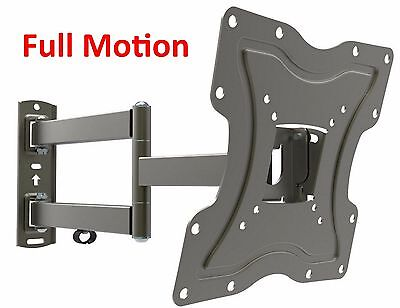 Full Motion TV Wall Mount Articulating Bracket 24 32 37 39 40 LED LCD FlatScreen