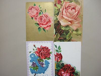 Four old ROSES post cards