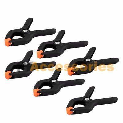 """6 6/"""" Plastic Spring Clamps Clips Soft Nose Woodworking Hobby Blanket Tent Fort"""