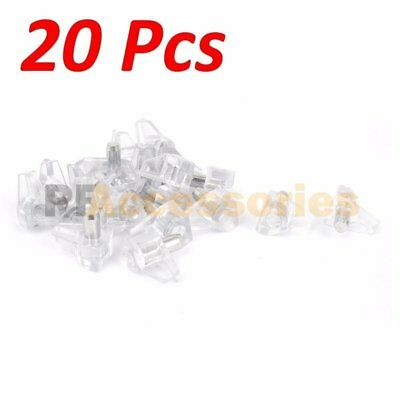 "20 Pcs 3/16"" inch Clear Plastic Shelf Support Pin Peg for Cabinet Book Shelves"