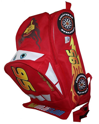 "Disney Cars Lightning McQueen Shaped 12"" Toddler Kids Backpack Red School Boys"