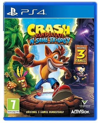 Crash Bandicoot N. Sane Trilogy PS4 - Brand New - 1st Class Delivery