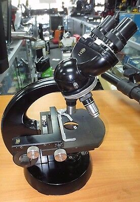 Carl Zeiss Bi-ocular Microscope Vintage with 3 Objectives
