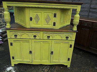 Edwardian Dresser Solid Oak. Needs stripping SOLID LOVELY Piece Family Inherited