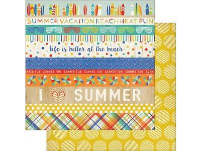 Carta Bella Beach Day Paper 12x12 Border Strips