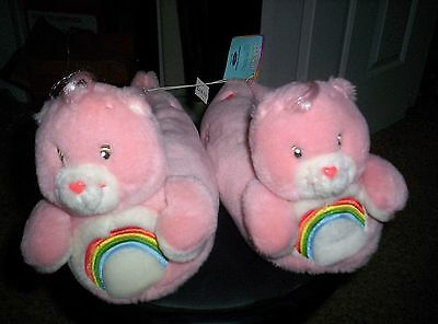 Pink Care Bear Slippers size 9/10 Cheer Bear