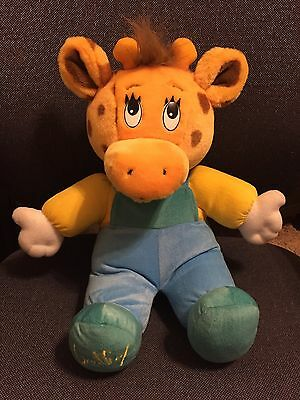 Toys R Us VINTAGE GEOFFREY JUNIOR GIRAFFE BABY STUFFED ANIMAL PLUSH TOY 1993 12""