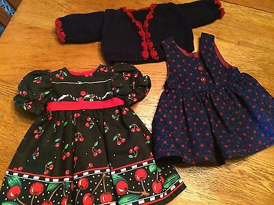 Dresses And Sweater Clothes Lot For 18 Inch Doll