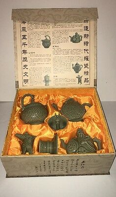 Chinese Porcelain Yaozhou Kiln Green 6 Piece Tea Set RARE Only Found In China!