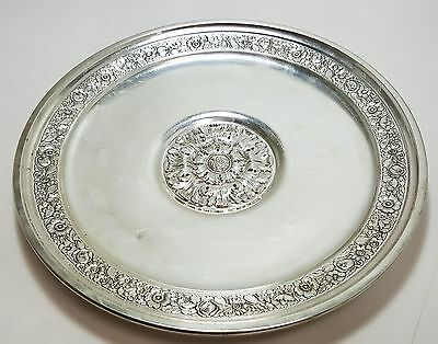 Sterling Silver Reed & Barton Floral Silver Sunflower 11 Inch Plate B3424