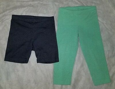2 Pieces Girls 6X-6/7 Shorts and Leggings Used