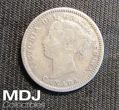 1882-H Canada 10 Cents Silver Canadian Coin Circulated