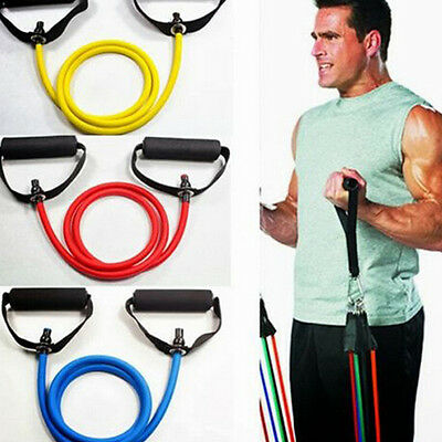 Exercise Latex Resistance Bands Pilates Tube Workout Gym Yoga Fitness Stretch