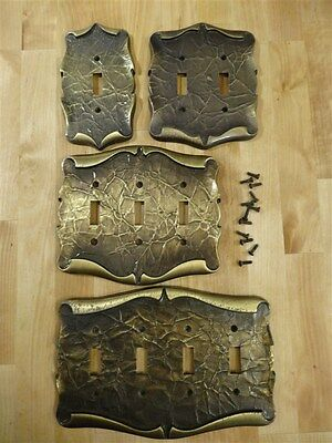 4 Vintage AMEROCK Carriage House Single Double Triple Quad * Switch Cover Plates