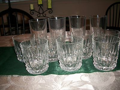 Set of 11 Cristal D'Arques Durand Tuileries - Villandry highball & old fashioned