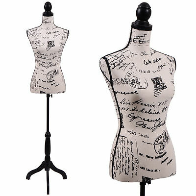 Female Mannequin Torso Clothing Dress Form Display W/ Black Tripod Stand New