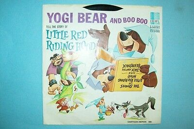 Vintage 1965 Yogi Bear Tells the Story of Little Red Riding Hood 45 rpm Record
