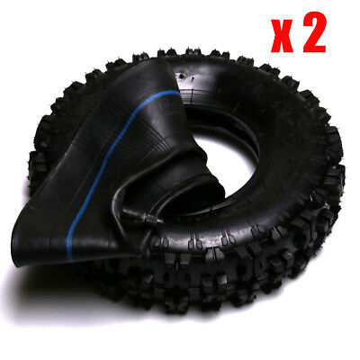 "2pcs 4.10-6"" Inch Knobby Tyre Tire ATV Quad Motorcycle Go kart Mower Dune Buggy"
