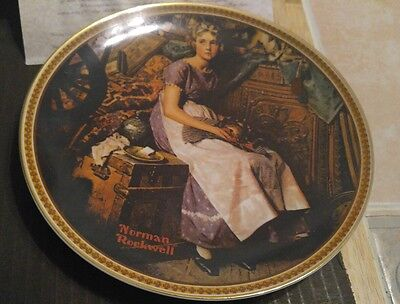 """Norman Rockwell Collecter Plate """"Dreaming In The Attic"""" Knowles"""