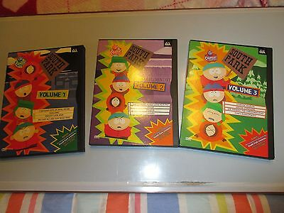 South Park Complete Seasons 1~2~3 Dvd lot of 3 free shipping