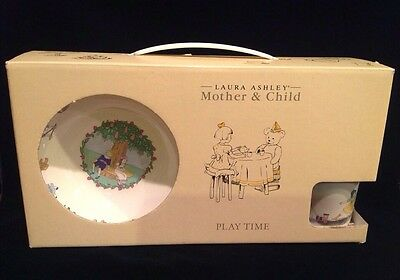 Laura Ashley Mother & Child Play Time Child's Dish Set 4 Piece Original Box NEW