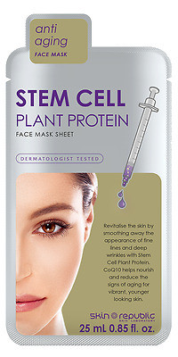 Skin Republic STEM CELL PLANT PROTEIN ANTI AGING ANTI WRINKLE FACE MASK SHEET